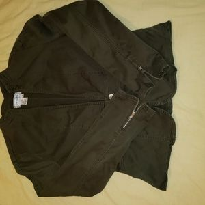 Army green long sleeved jacket